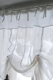 Shabby Chic White Curtains Linens Ruffle Curtain Panel Living Pinterest
