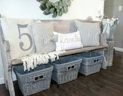 farmhouse entry antique church pew bench by blessed ranch