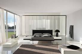 contemporary furniture for modern white bedroom decoration using