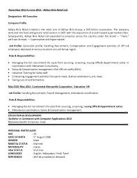 Sample Resume For Hr And Admin Executive Resume Hr Generalist