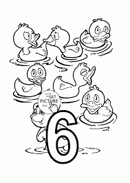 number 6 coloring pages for preschoolers counting numbers