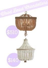 Wooden Chandeliers Lighting Shades Of Light Wood Bead Basket Chandelier Look Alike Southern