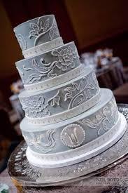 pink and grey sparkle beautiful cakes pinterest bruiloft