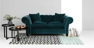 Blue Velvet Chesterfield Sofa Bardot 2 Seater Chesterfield Sofa Blue Velvet Made