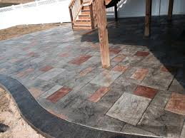 decorative concrete patio photos colored concrete patio designs