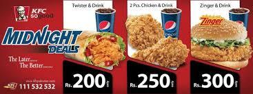kfc pakistan on munch away the with kfc s