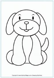 dog coloring pages for toddlers dog colouring page quiet book pages pinterest dog patterns