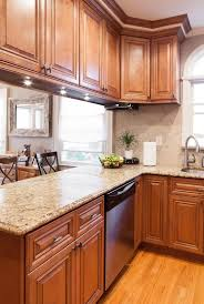 granite countertops oak cabinets kitchen ideas lighting flooring