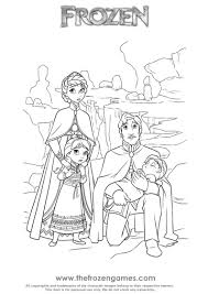 frozen coloring pages the royal family u2022 frozen games online