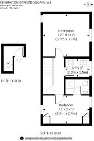 kensington square floor plan 6 bedroom flat for sale in flats 1 6 48 kensington gardens