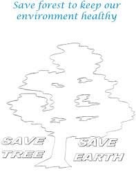 save tree save earth coloring page