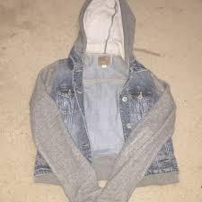 jean sweater jacket 23 eagle outfitters jackets blazers jean sweater