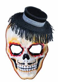 day of the dead masks day of the dead skull with hat mask 353655 trendyhalloween