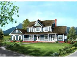 two farmhouse country style house plans with porches farmhouse style two has