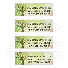 tree of bar mitzvah mailing labels