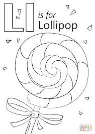 letter l is for lollipop coloring page free printable coloring pages