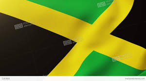 China Flag Waving Jamaica Flag Waving In The Wind Looping Sun Rises Style