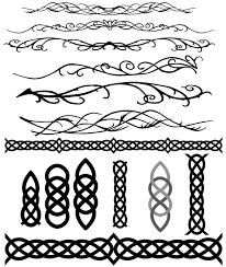 celtic and elvish decoration flourish vectors free vectors