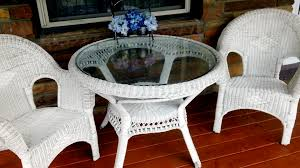 White Wicker Patio Chairs - White wicker outdoor furniture