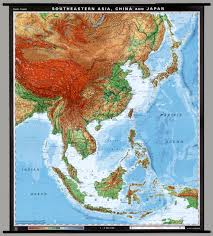 Map Of Se Asia by East U0026 Southeast Asia Physical David Rumsey Historical Map