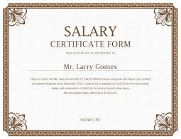 Certification Letter Of Accomplishment Printable Salary Certificate Templates Free Download