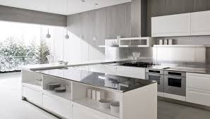 Modern Kitchen Island With Breakfast Bar Kitchen Modern Kitchen With Gray Kitchen Cabinet And White Island