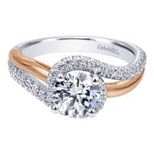 engagement ring setting gabriel co engagement rings bypass 30ctw diamonds