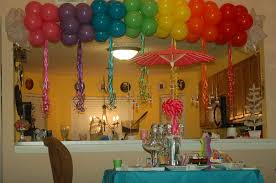 how to make birthday decoration at home rainbows and sparkles birthday party ideas photo 6 of 27 catch