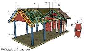 carport with storage plans carport with storage roof plans myoutdoorplans free woodworking