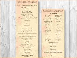 wedding programs template free 5 wedding program template free outline templates