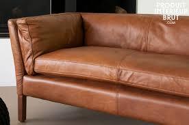 canape cuir pleine fleur 3 places canapé cuir hamar style vintage cuir pleine fleur de qualité