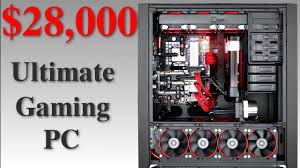 Ultimate Gamer Setup Theoretical 28 000 Ultimate Gaming Pc Setup Youtube