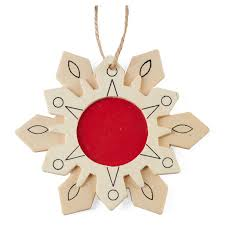 unfinished wood picture frame snowflake ornament set