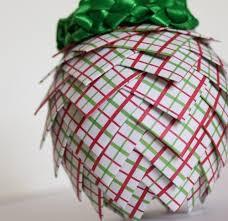 paper pinecone or is it an artichoke ornament