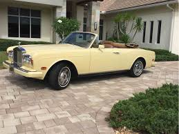rolls royce white convertible classic rolls royce corniche for sale on classiccars com