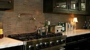 Black And Brown Kitchen Cabinets Brown Kitchen Backsplash Contemporary Kitchen Jeff Lewis Design