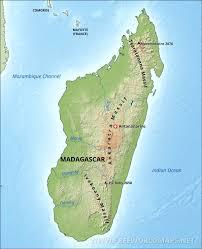 Madagascar Blank Map by Madagascar Physical Map