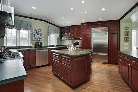 what color countertop looks best with cherry cabinets 43 kitchens with extensive wood throughout home