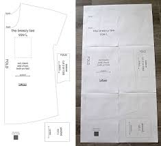 shirt pattern cutting pdf the breezy tee free womens sewing pattern in size l it s always