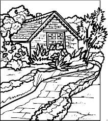 coloring pages for landscapes landscape coloring pages getcoloringpages com