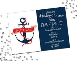 Indian Baby Shower Invitation Cards Nautical Baby Shower Invitation Ahoy Its A Boy Anchor