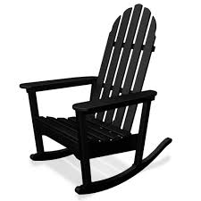 Wooden Rocking Chair Outdoor Polywood Reg All Weather Adirondack Rocker Home Furniture