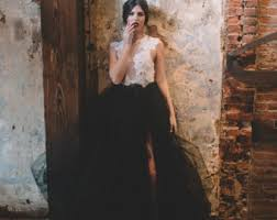 black lace wedding dress calypso nightfall tulle bridal