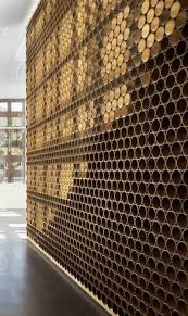 What Is A Decoration Unique Wall That Is Made From Mailing Tubes U2013 Wall In Aspen Art