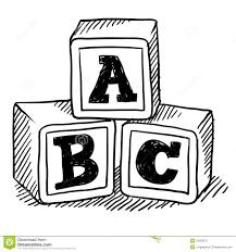 abc blocks sketch royalty free stock photo image 22382075