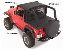 matte red jeep smittybilt standard top for 92 95 jeep wrangler yj quadratec