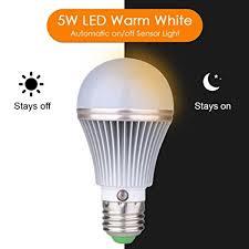 outdoor garage light bulbs amazon com e27 5w led dusk to dawn sensor light bulbs aluminum