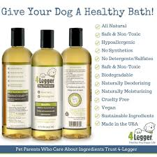 amazon com 4 legger certified organic dog shampoo all natural