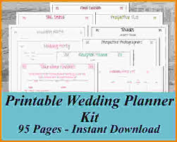 wedding planner book free 7 free printable wedding planner book letter template word