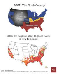 Confederate States Map by Ahf Map Of Confederacy Is A Near Mirror Of Highest Hiv Rates In